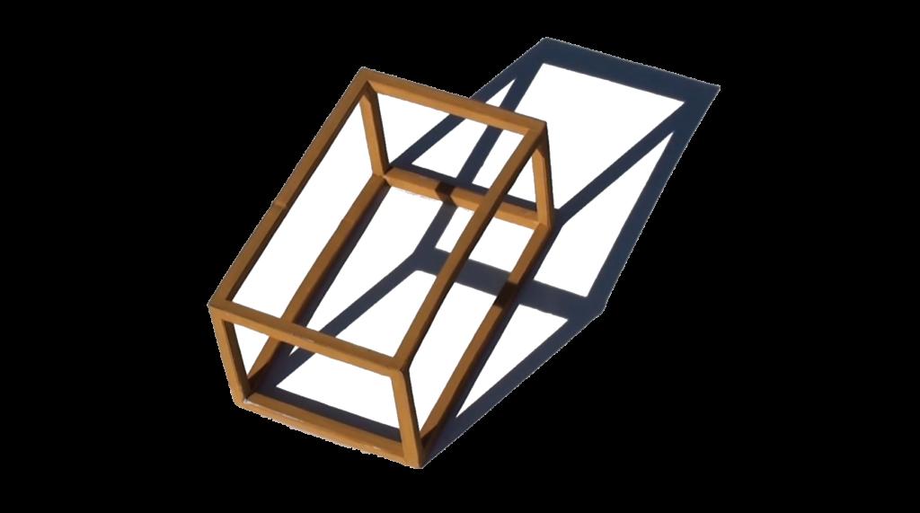 assonometria monometrica spiegata con le ombre